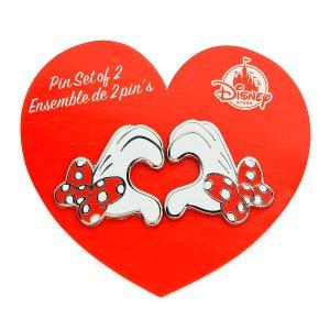 Disney Store Mickey Minnie Friendship Pins
