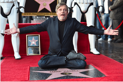 Mark Hamill Star Wars Hollywood Star