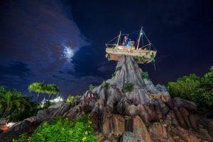 typhoon lagoon at night