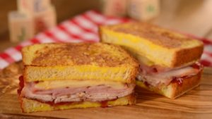 Monte Cristo sandwich on the menu at Woody's Lunch Box