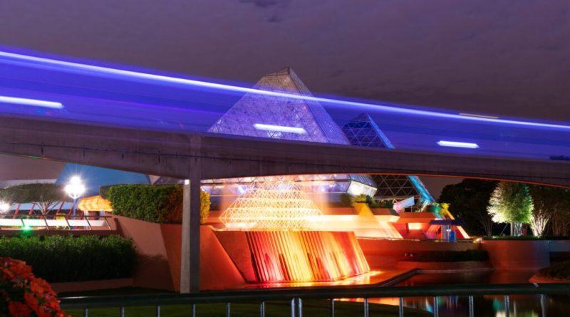 EPCOT monorail and Imagination Pavilion