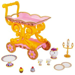 Beauty and the Beast Be Our Guest Singing Tea Cart Play Set
