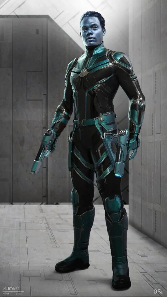 Captain Attlass Captain Marvel Kree character designs Ian Joyner