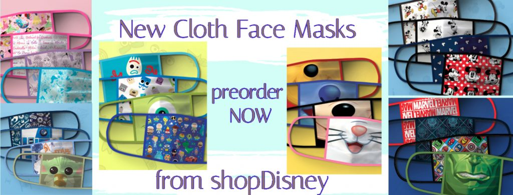 new cloth face masks from shopdisney