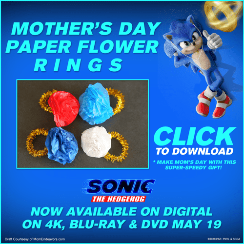 sonic Mother's Day paper flower ring