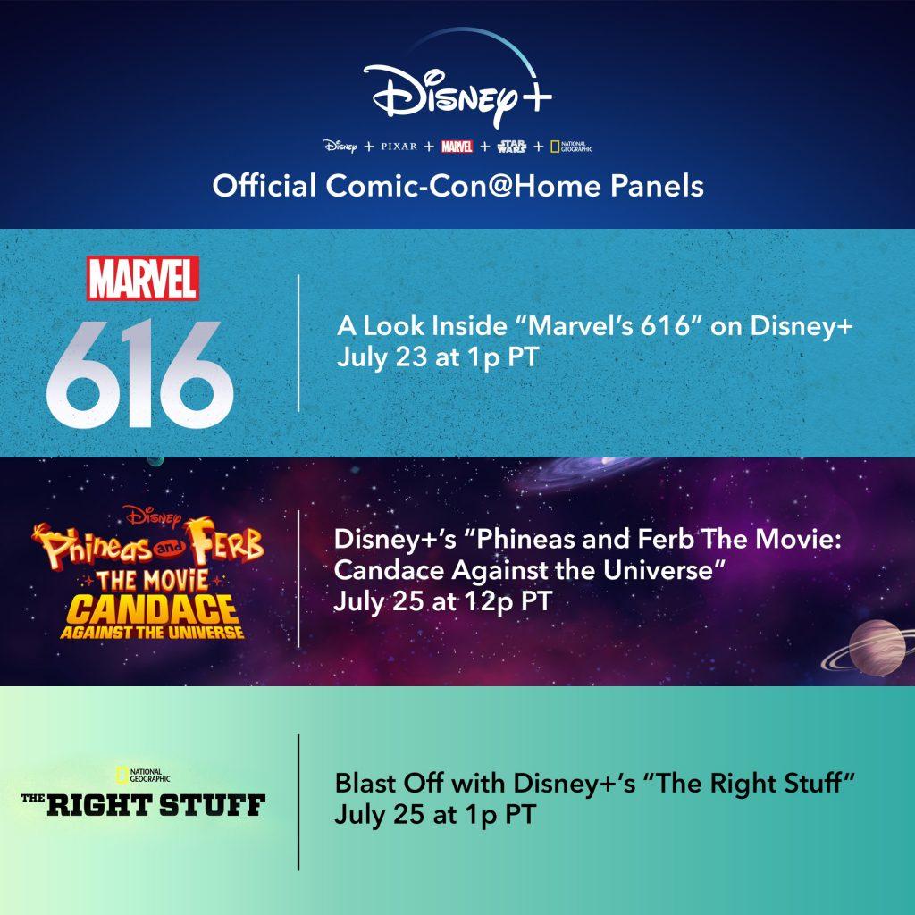 disney+ comic con at home panels