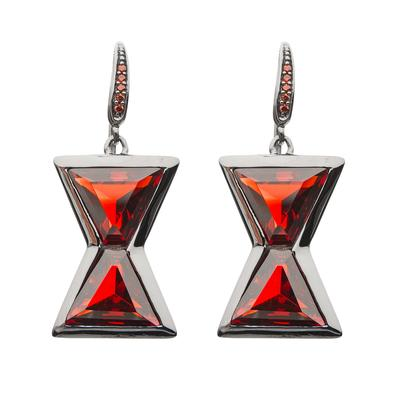marvelxrocklove black widow hourglass earrings