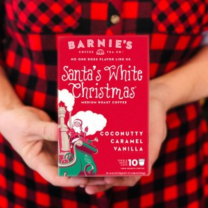 barnies Santa's White Christmas