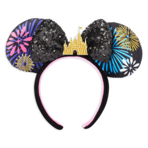 Minnie Mouse The Main Attraction Nighttime Fireworks Castle Finale Ears