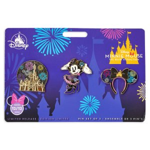 Minnie Mouse The Main Attraction Nighttime Fireworks Castle Finale Pin Set