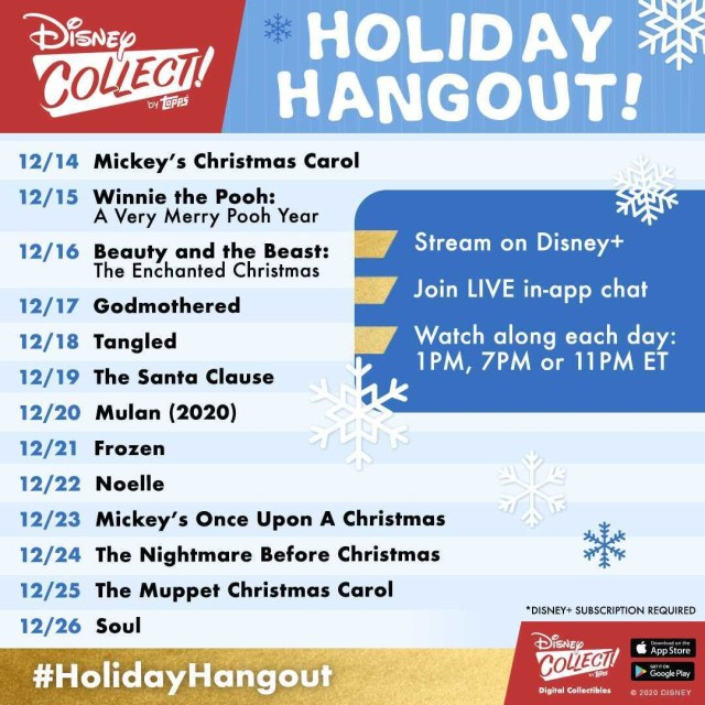 disney collect Topps holiday hangout