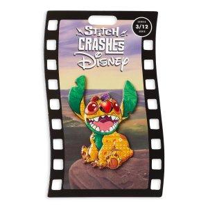 Stitch Crashes Disney Jumbo Pin