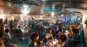 Crown of Corellia Dining Room in Star Wars: Galactic Starcruiser