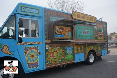 """The Food Truck Park is great.... 4 Trucks each themed to a park. Namaste Cafe """"inspired by Animal Kingdom"""""""