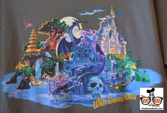 """New """"Walt Disney World"""" T-Shirt design... No More Hat! Lots of other classic attractions added..."""