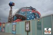 Planet Hollywood is open... it's covered by walls - but It's open.