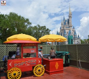Single Popcorn Cart. Lots of construction on the hub expansion on behind the wall.