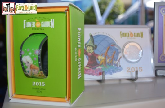 "Limited Edition ""Anna & Elsa"" Flower & Garden Magic Bands available at the Pin Station and Mouse Gear - Epcot International Flower and Garden Festival 2015"