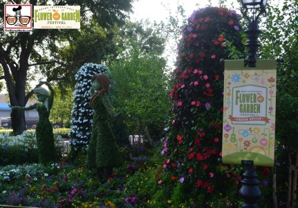 Anna and Elsa Topiaries - - Epcot International Flower and Garden Festival 2015