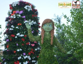 Anna Topiary - Epcot International Flower and Garden Festival 2015