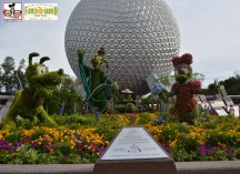 """""""Goofy about Spring"""" - Goofy stands 14 feet tall - the tallest topiary every created for Epcot International Flower and Garden Festival 2015"""