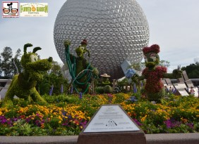 """Goofy about Spring"" - Goofy stands 14 feet tall - the tallest topiary every created for Epcot International Flower and Garden Festival 2015"