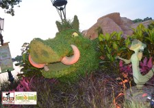 Timon and Pumbaa topiaries new African Outpost - Epcot International Flower and Garden Festival 2015