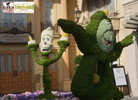 Lots of Topiaries all around world showcase - Epcot International Flower and Garden Festival 2015