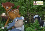 Bambi, Thumber and Flower topiaries near Canada - Epcot International Flower and Garden Festival 2015