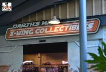 """Star Wars Weekend 2015 - Darth's Mall was split into two locations. Both former locations for the back lot tour, the loading building and unloading building - """"X-Wing Collections"""" and """"Watto's Gratto"""""""