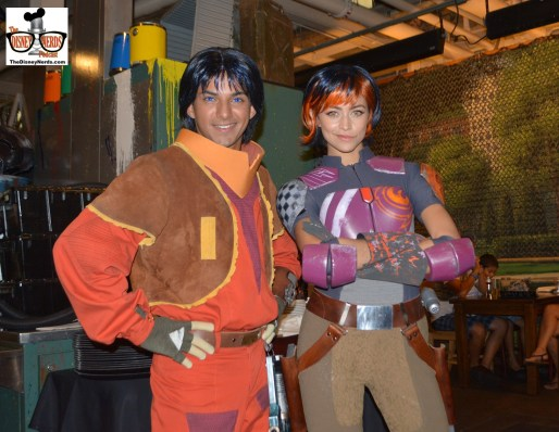 New for 2015 - The Rebel Hanger - While not a meet and greet, characters did walk around the hanger looking for info on the empire. (Ezra and Sapine)