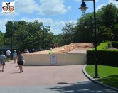 New Concrete being installed near the boardwalk on the way to Epcot International Gateway