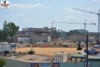 A few of construction from the completed parking garage... Planet Hollywood is to the left.