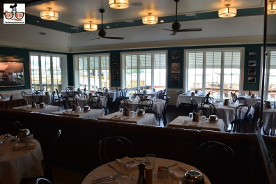 Main Dining Room at the Boat House, views of the docks and lake