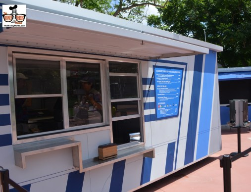 Test Kitchen was open near test track, featuring Gourmet Grilled Cheese Sandwiches.