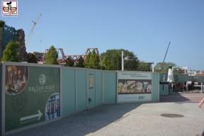 Raglen Road is almost lost in the sea of construction walls.