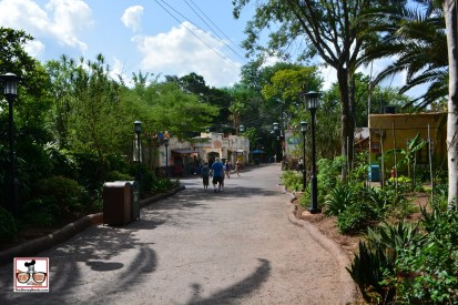 """The New Harambe Marketplace is open, this picture is taken from the 'Exit"""" of Kilimanjaro Safaris. The openness of the new marketplace welcomes you to exit via a new pathway on the other side of traffic. Great addition, Great Theming."""