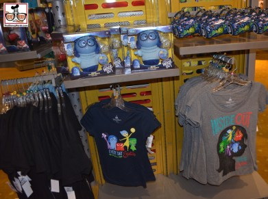 Limited amount of Inside-Out Merchandise at Mouse Gear (This is the other side of the same rack)