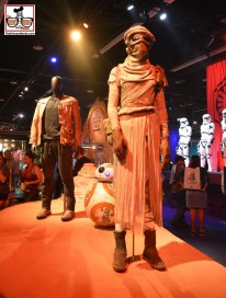 """The Disney Studios exhibit included some """"Star Wars"""" The Force awakens props."""
