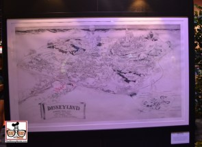 """The original map used by Walt to """"Pitch"""" Disneyland to investors."""