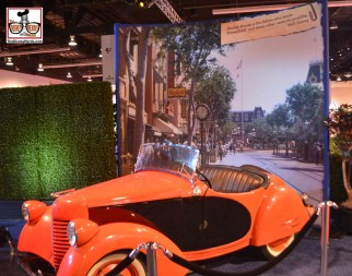 An original Disneyland Main Street USA car - one of many exhibits in the Archives Collection.