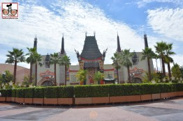 The Chinese Theater, no stage, lots of bushes..