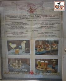 The Hanger Bar menu