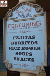 No More Burgers at Pecos Bill's - Now featuring the Best of the West. Fajitas, Burritos, Rice Bowls Soups and Snacks.