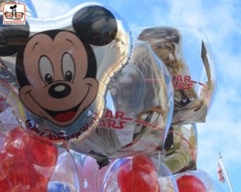 Star Wars Balloons along with Mickey on Main Street... to much Star Wars? Just wait....