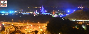 A few of the Magic Kingdom from Bay Lake Tower.