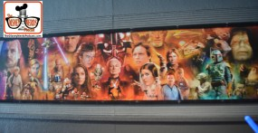 2015-12 - Hollywood Studios - huge Star Wars mural as you enter the queue area.
