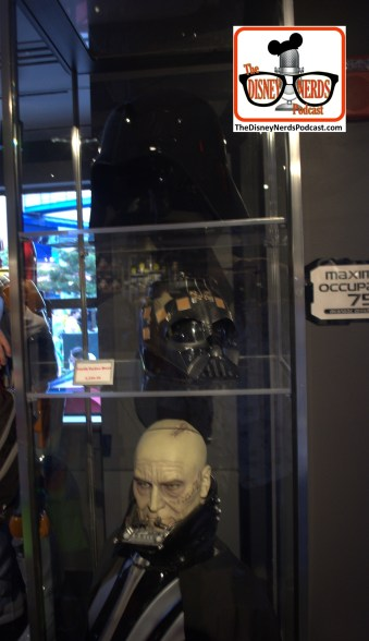 2015-12 - Hollywood Studios Launch Bay Props Vader Bust with removable helmet.... it was located near the exit... the next day - it was GONE!!!