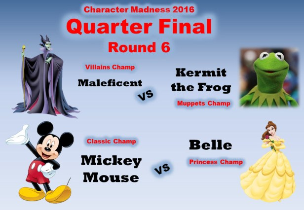 The Disney Nerds Podcast Character Madness Quarter Final Round 6