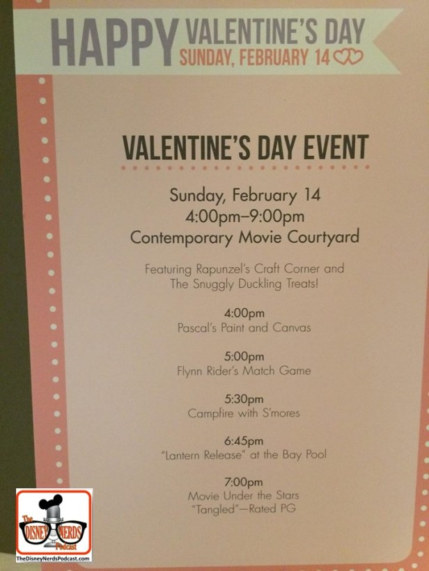 Valentines Day 2016 Activities at Disney Contemporary Resort